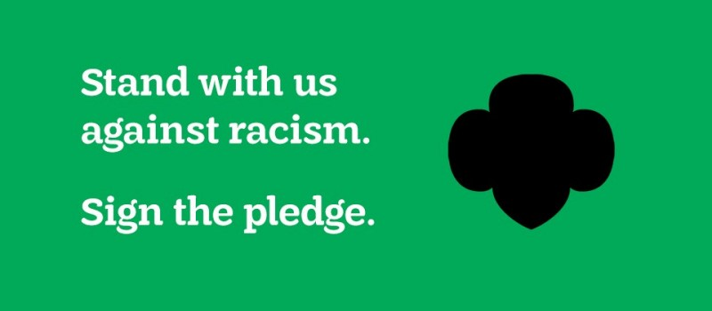 Sign the pledge and stand against racism with Girl Scouts