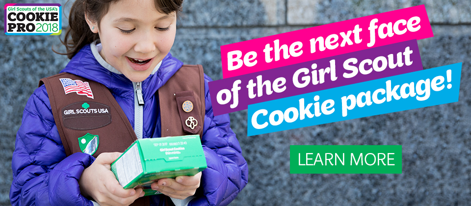 Be the next face of the Girl Scout Cookie box!