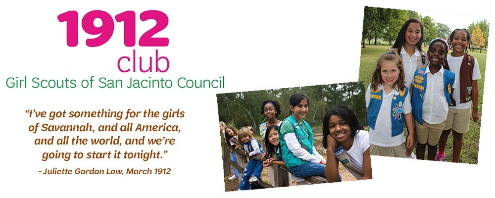 1912 Club - Make a recurring gift to Girl Scouts